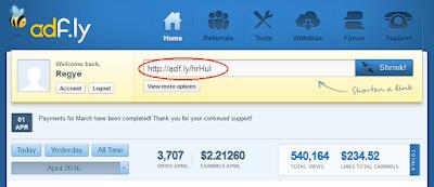 Menggunakan Adfly sebagai Publisher