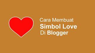 Cara Membuat Simbol Love / Hati / Heart dengan HTML symbols