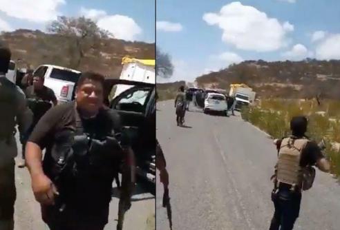 Video; Así queda un lugar tras enfrentamientos entre Los Talibanes, El CJNG y Cártel de Sinaloa