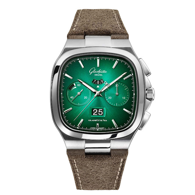 Glashütte Original Seventies Chronograph Panorama Date green (ref. 1-37-02-04-02-35)