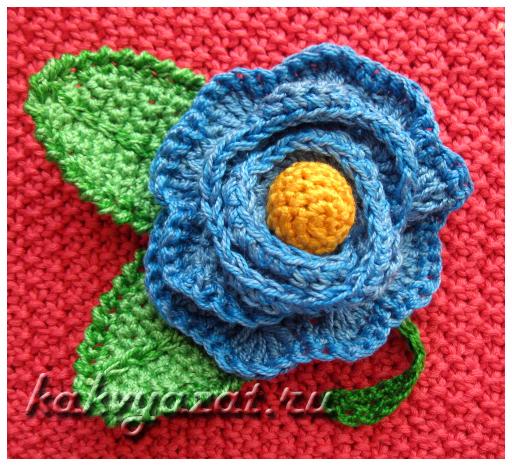 Декоративный цветок из пряжи «Ирис»