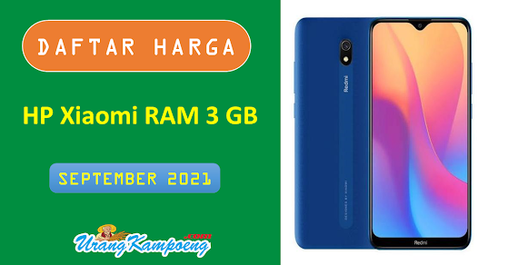 Daftar Harga 3 HP Xiaomi RAM 3 GB