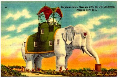 Postal original Lucy Elephant Hotel de Atlantic City