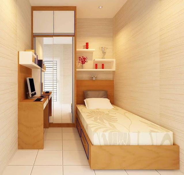 Desain Kamar Tidur Sederhana Memanjang Terbaru