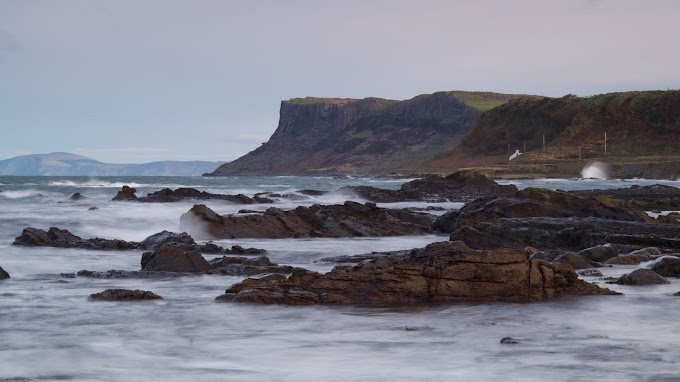 Plano de Fundo Mar, Ondas, Rochas, Paisagem Natural