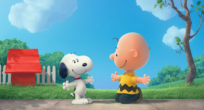 Snoopy and Charlie Brown about to hug each other
