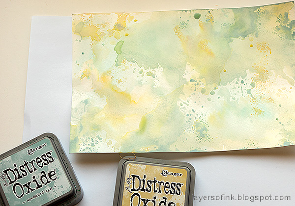 Layers of ink - Crocus in Watercolor and Pencil Tutorial by Anna-Karin Evaldsson. Ink with Distress Ink and Distress Oxide ink.