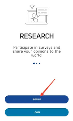 Real Research App Signup