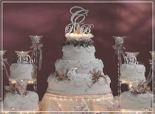 stunning swarovski wedding cake topper