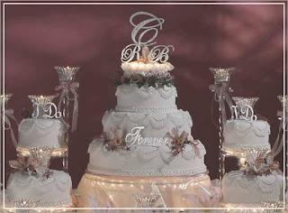 stunning swarovski wedding cake topper