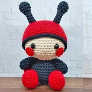Amigurumi Mariquita a Crochet