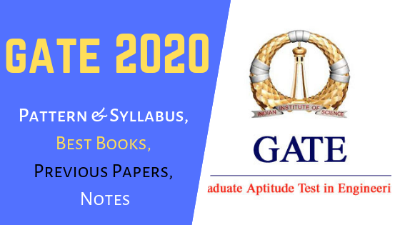 GATE Exam 2020 Pattern, Syllabus, Best Books, Previous Papers, Notes Download