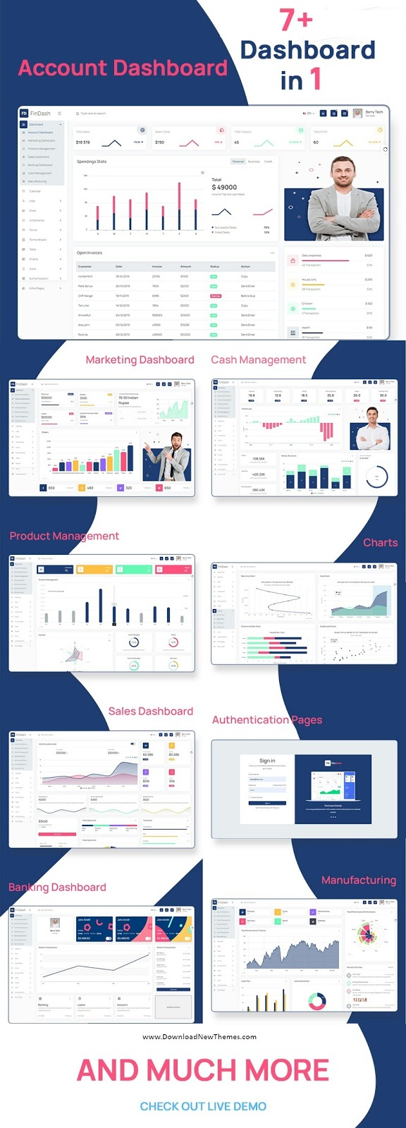 Clean and Modern Admin Dashboard Template