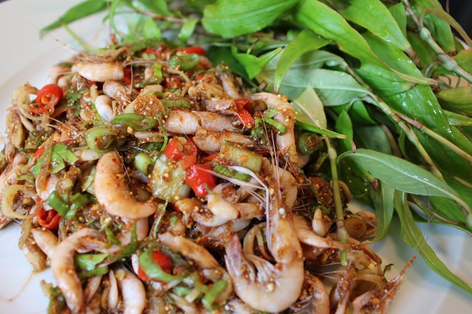 อาหารไทย อาหารโบราณ กาพย์เห่ชมเครื่องคาวหวาน ก้อยกุ้ง