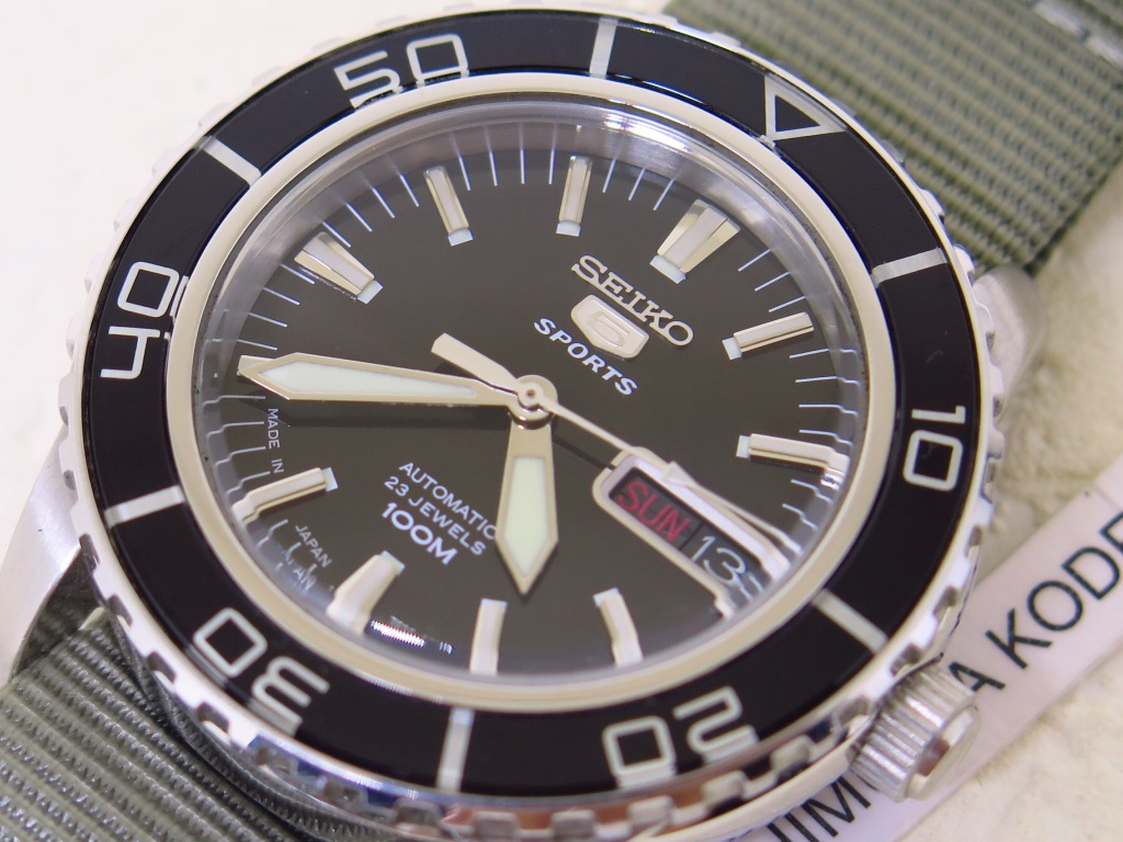 SEIKO 5 SPORTS BLACK DIAL SPORTS BEZEL - AUTOMATIC 7S36C