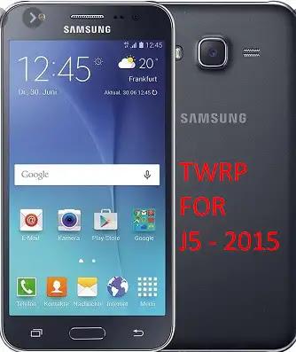 تحميل الريكفرى المعدل TWRP 3.4.0-0 لهاتف GALAXY J5 2015