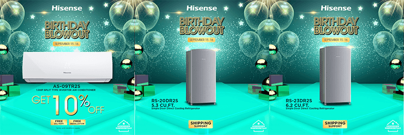 Hisense home essentials deals