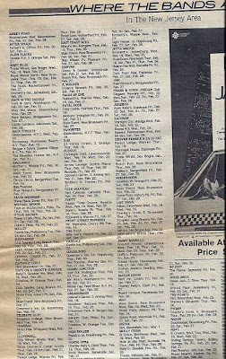 Local band gig's around the Tri-State area from Feb 18-25 1981 Aquarian Weekly