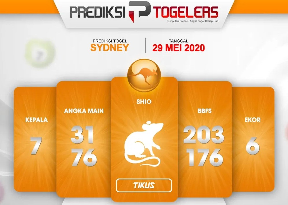 Prediksi Togel Sydney Jumat 29 Mei 2020 - Prediksi Togelers