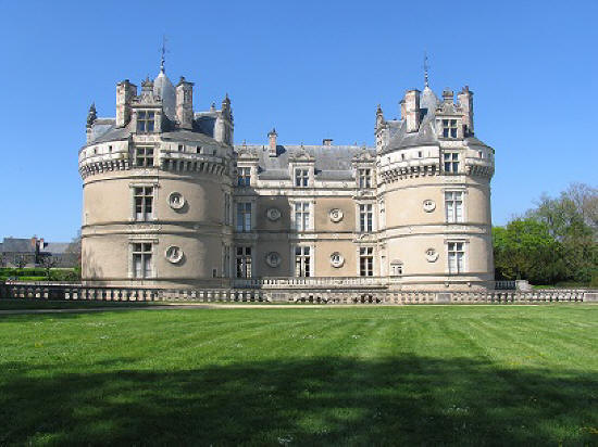 The ornate facade of Chateau du Lude in  Pays de la Loire