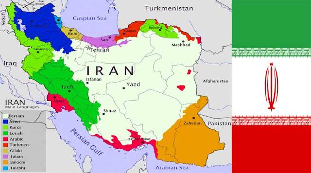 Gambar Peta Negara Iran