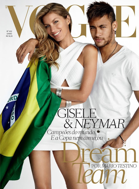 Vogue capa gisele e neymar