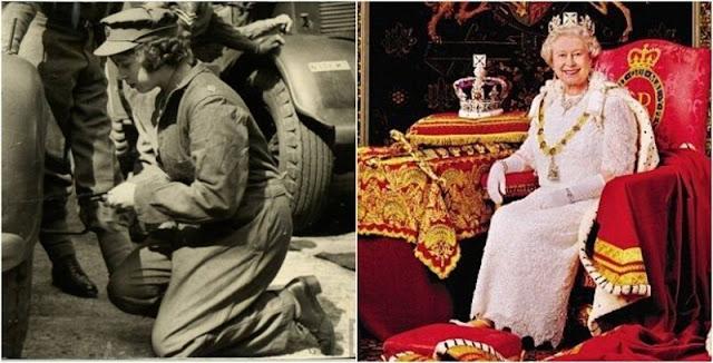 La reina Isabel II se entrenó y trabajó como mecánica durante la Segunda Guerra Mundial