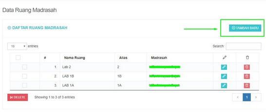 Cara Menambah dan Membuat Data Ruang di Web UAMBN-BK