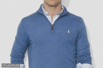 A men wearing normal collar sweater