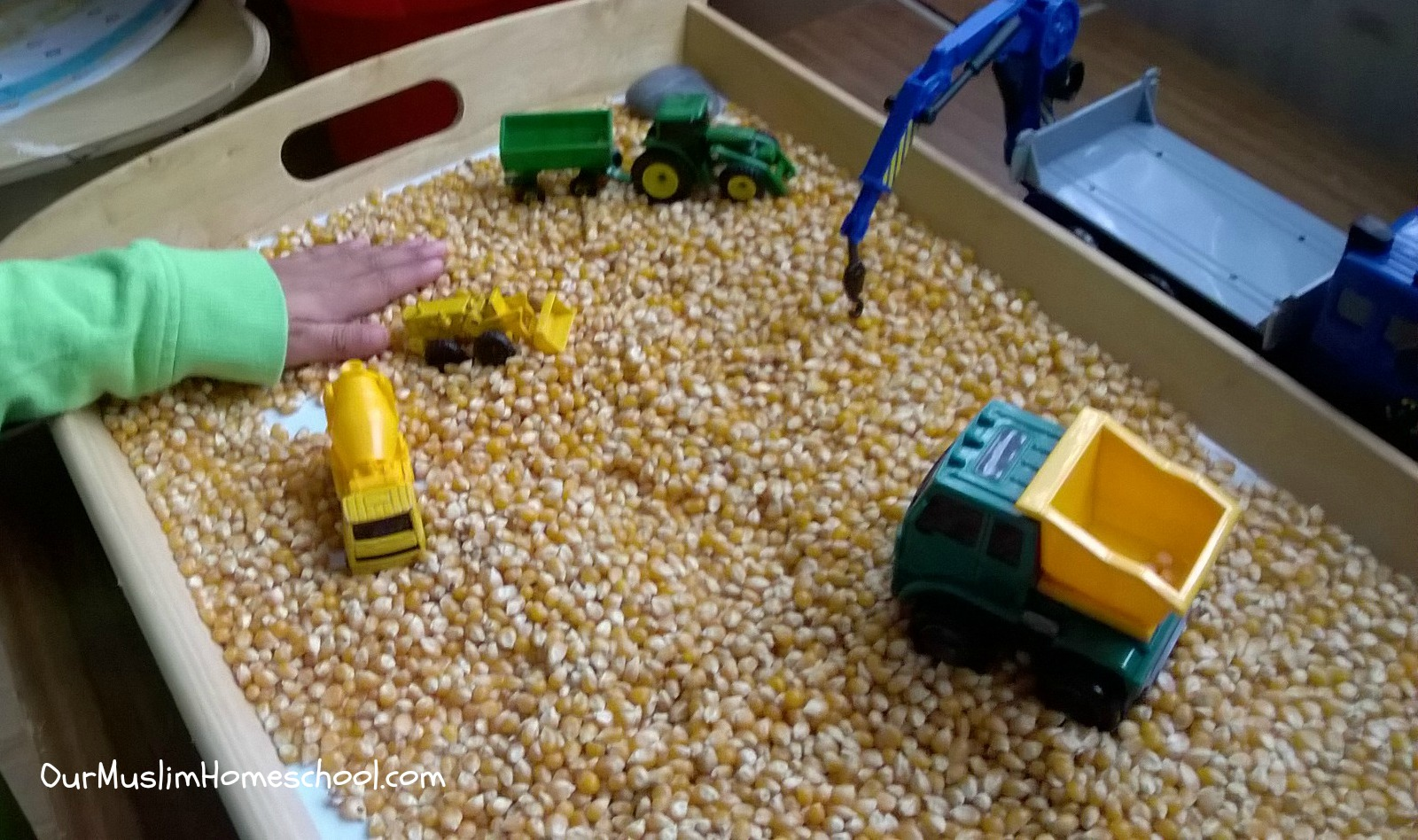 Preschool Activity Popcorn Construction Site