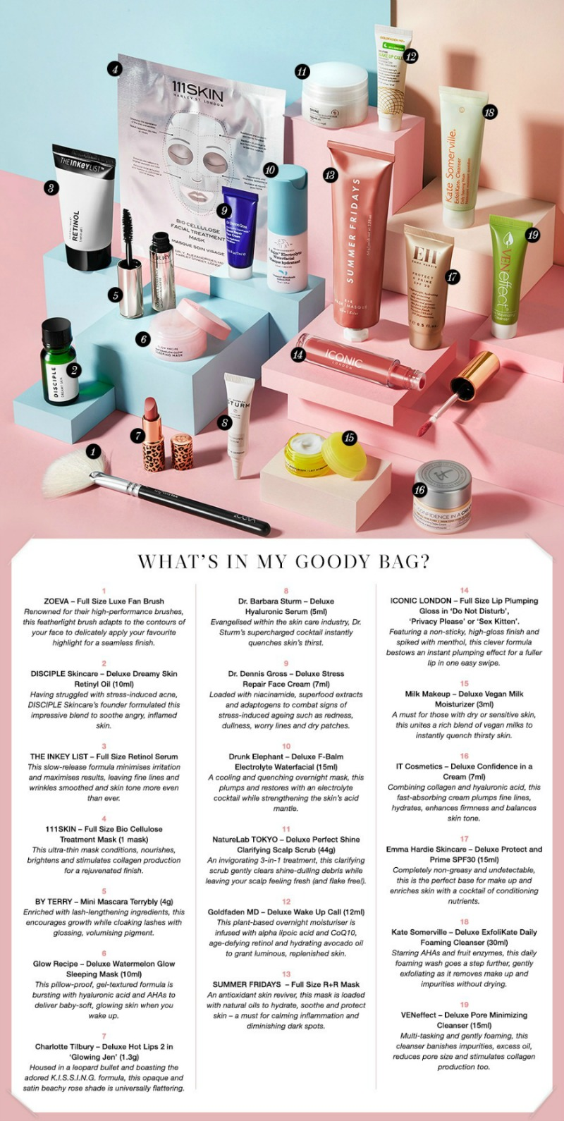 Cult Beauty The Founders Goody Bag - worth over £270