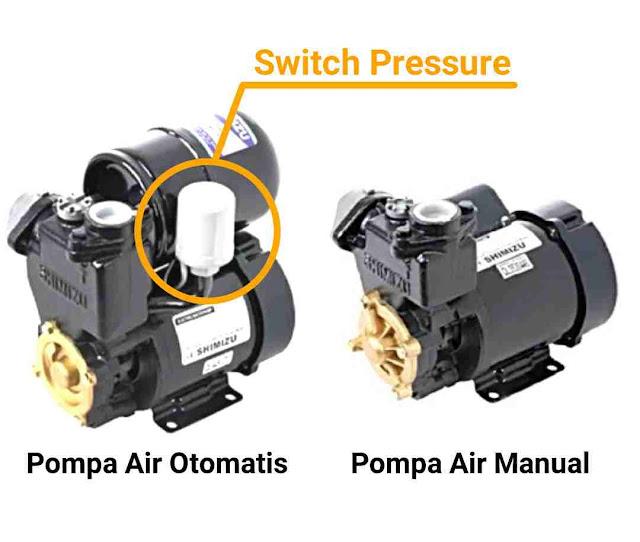 perbedaan pompa air otomatis dan manual