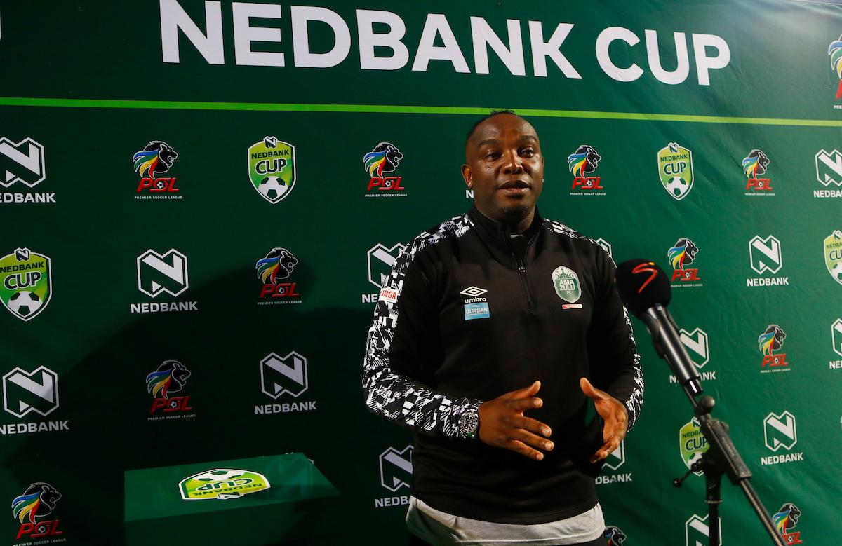 AmaZulu head coach Benni McCarthy