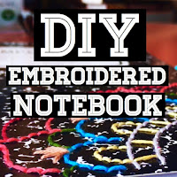 diy embroidered notebook, diy notebook ideas, diy school supplies, lauren banawa