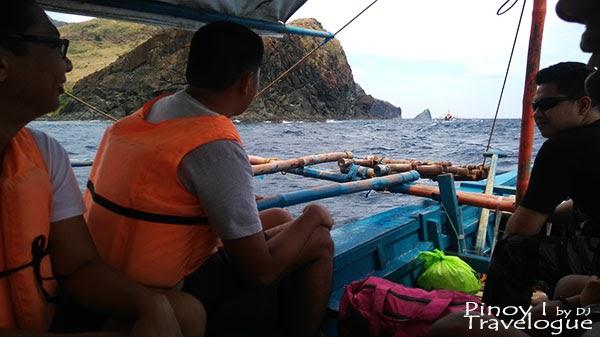 Boat ride on the way to Nagsasa Cove