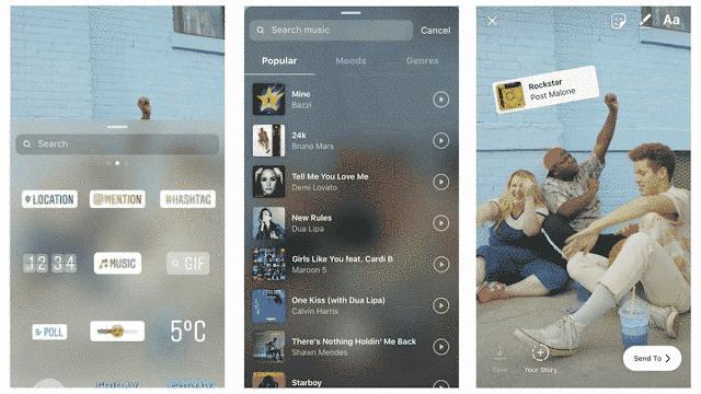 Insta Stories Music Sticker Instagram Story Cara Menambahkan_4