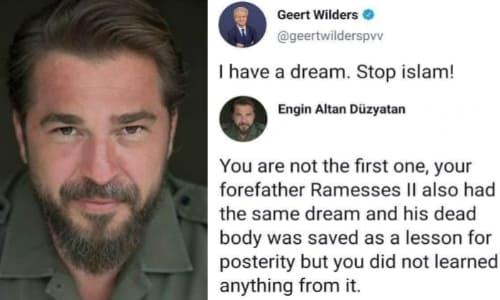 Jawab Tweet Tokoh Politik Belanda yang Anti Islam, Engin Altan: Anda Bukan yang Pertama!,