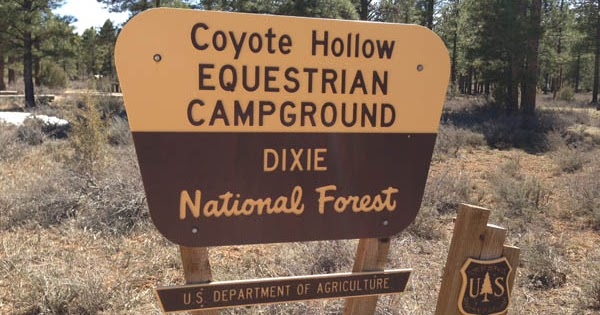 Camping And Horses Coyote Hollow Equestrian Park And Trail Head Utah