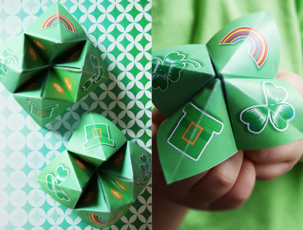 Free Printables St Paddy's Day Cootie Catchers - BirdsParty.com