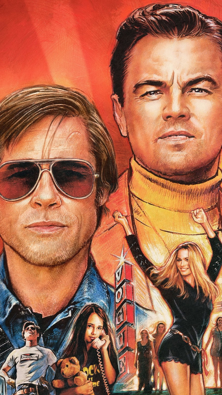 Once Upon A Time In Hollywood Mobile Wallpaper Brad Pitt Leonardo