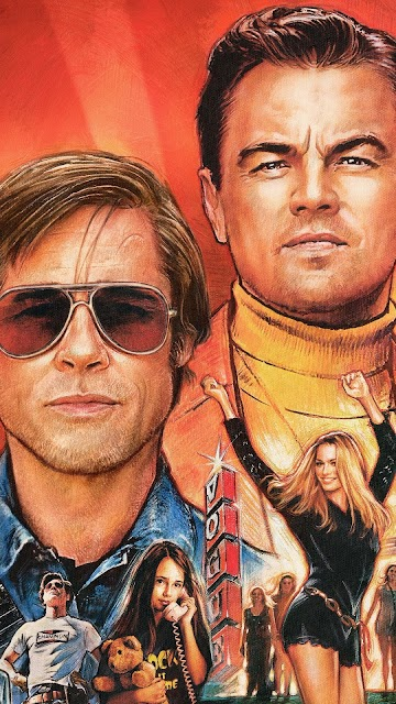 Once Upon A Time In Hollywood Mobile wallpaper,Brad Pitt, Leonardo Dicaprio,Margot Robbie
