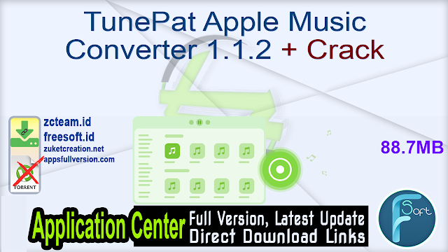 TunePat Apple Music Converter 1.1.2 + Crack_ ZcTeam.id