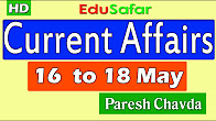 Current Affairs 16 to 18 May 2017 Video