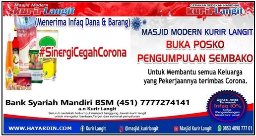 Sembako Untuk Keluarga Yang Terdampak Corona