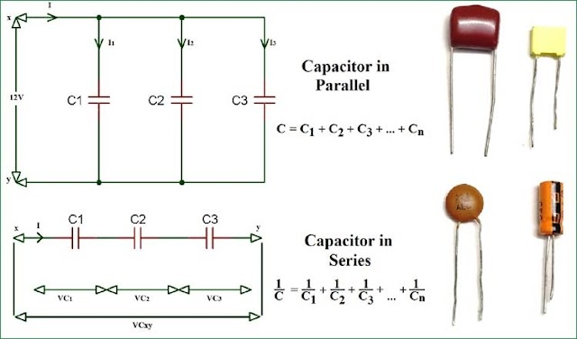 Serial and parallel capacitor circuit
