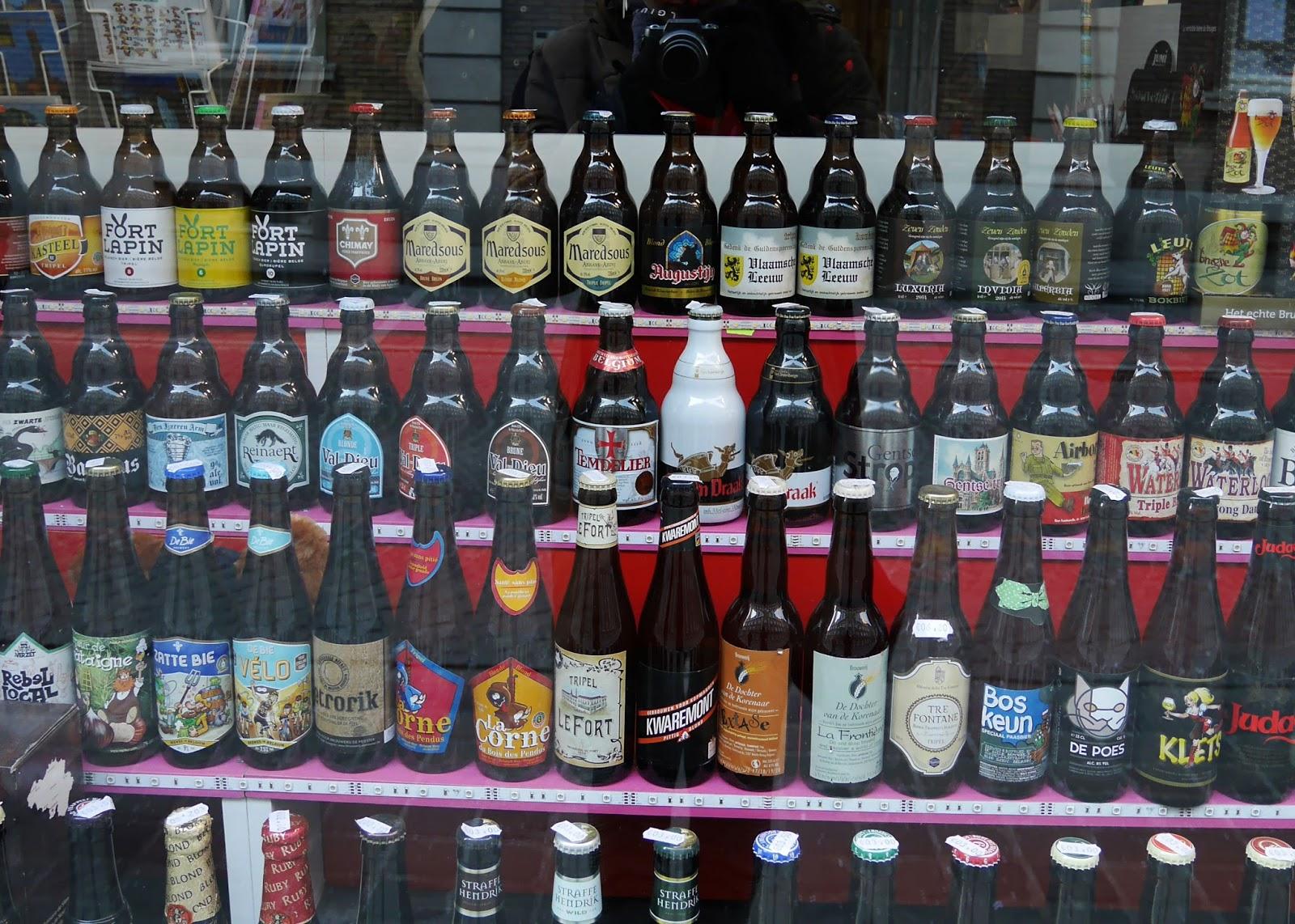 Belgian beer in Bruges