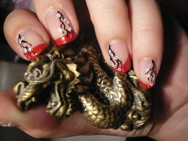 acrylic nails chinese nail design-acrylic