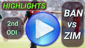 BAN vs ZIM 2nd ODI 2020