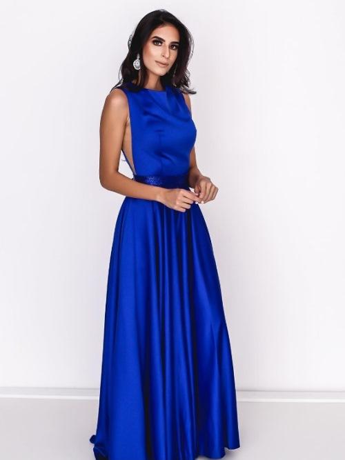 vestido de festa azul royal, azul bic