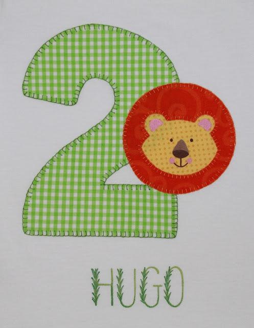 camiseta cumpleaños 2 años león de la selva